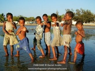 Malagasy children posing, Tulear